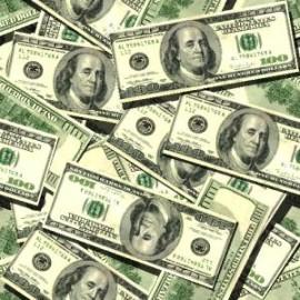 Купюры в 500, 1000, 5000 и 10000 долларов